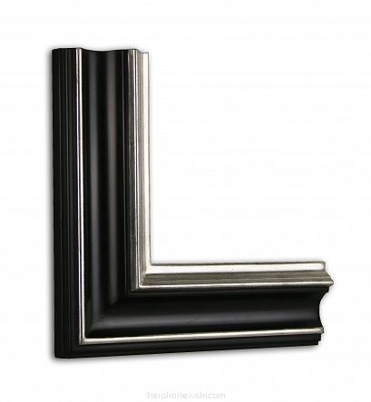 White gold bespoke picture frame