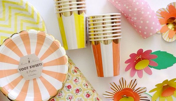 Where to Buy Pretty, Disposable Party Supplies: Meri Meri  From cheeky cups to gold-edged plates, all of the UK-based company's goods look perfectly grown-up. So much so, we'd be fine using them every day. (Side note: All orders are shipped from San Francisco.)