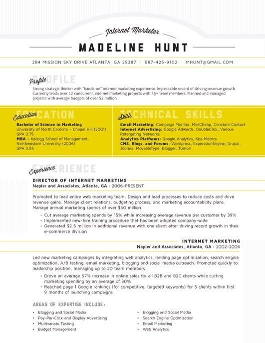 17 best Clean Resumes images on Pinterest Resume layout Resume