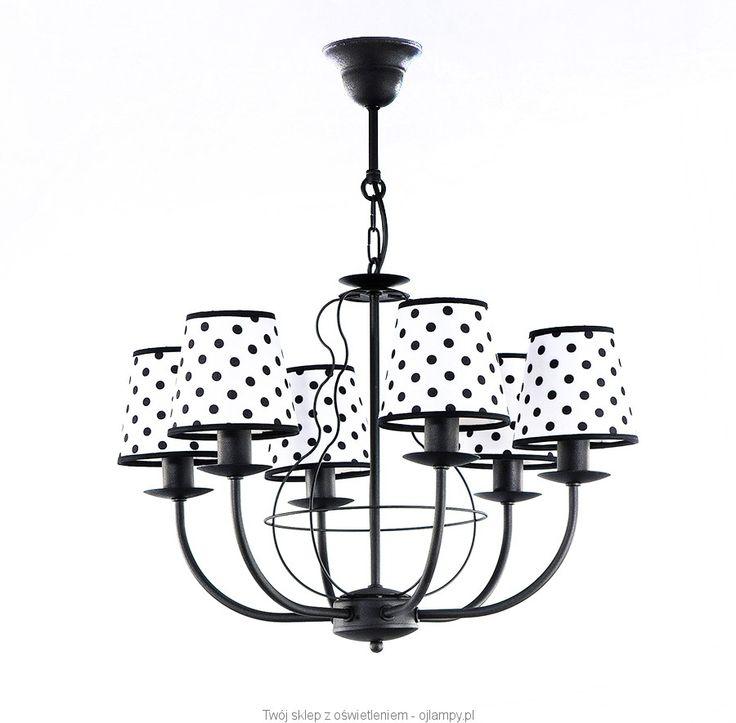 Żyrandol DASZA BLACK #retro #żyrandol #chandelier