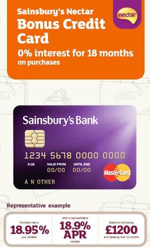 Sainsbury's Bank  Sainsbury's Nectar Bonus Credit Card