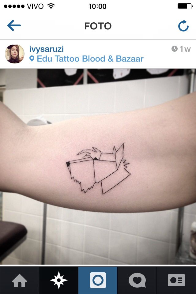 geometric scottish terrier tattoo I LOVE this!