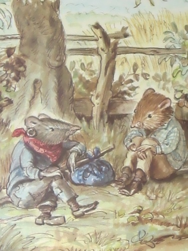 Tasha Tudor illustration for Wind in the Willows
