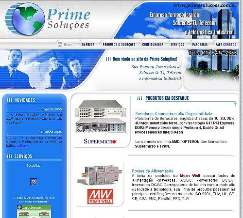 Site: Prime Soluções