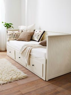 IKEA - HEMNES Daybed frame with 3 drawers Good for Office redo! Doubles as a spare room and office... Hmmm...