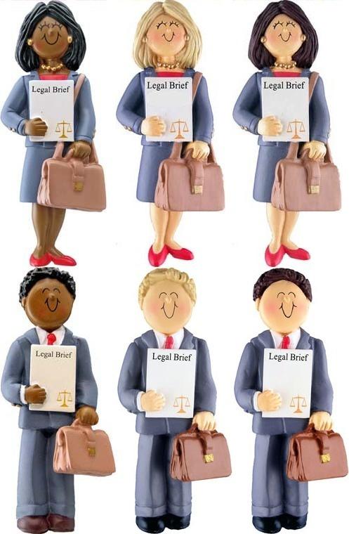 Male or Female Lawyer Attorney Christmas Ornament OC92 | Law School ...