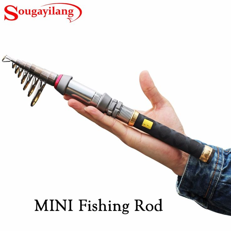 Sougayilang 1.3-2.4M Carbon Fiber Mini Telescopic Fishing Rod Portable Travel Fishing Rod Uitra Short Fishing Rod