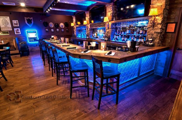 LED Lighted Back Bar Display & Under Bar LED Lighting