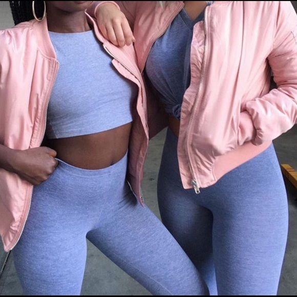 """""""I pink I can"""" bomber jacket Brand new in packaging. A cute unique baby pink bomber jacket that you do not see in stores! This is double lined and features two side pockets and pockets on the left arm as. Listed brand for exposure No negative comment ❌ I DO NOT TRADE I ship next day I discount bundles price is firm on this PINK Victoria's Secret Jackets & Coats Puffers"""