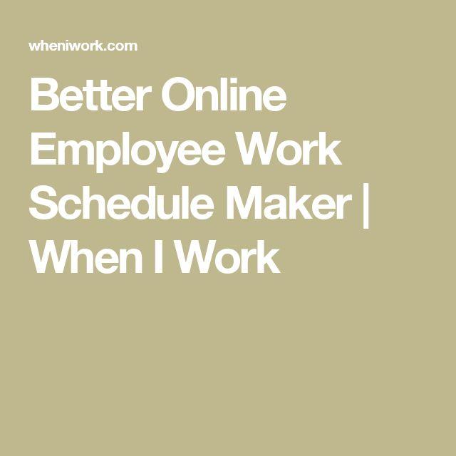 employee work schedule maker