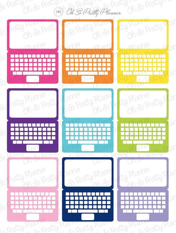 Laptop Stickers for your ECLP by OhSoPrettyPlanner on Etsy