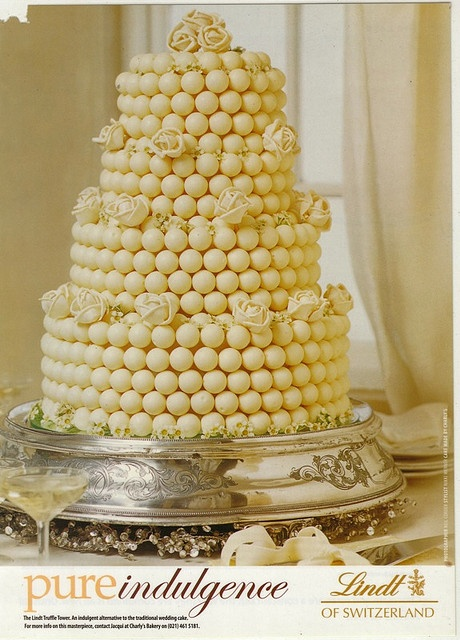nothing better than a white chocolate lindt ball cake - so wish this could have been my wedding cake.