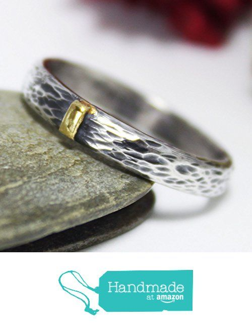 Golden Line Thin Tree Bark Sterling Silver 24K Keum-boo Ring, Silver Ring, Rustic Ring, Hammered Ring, Engagement Ring, Couple Ring from rosajuri https://www.amazon.com/dp/B01N3TCTHL/ref=hnd_sw_r_pi_dp_4gi1ybQKN52XK #handmadeatamazon