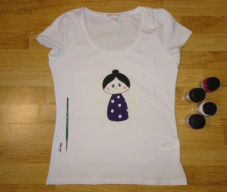 Mimu Doll   - Tricoul pictat manual
