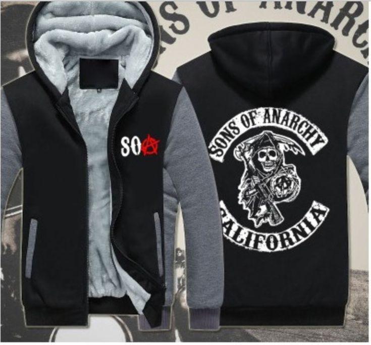 Sons Anarchy Samcro Jax Spring Summer Print Jacket Coat Thicken Sweaterwear US EU Size Plus Size S-6XL 4 Colour #33