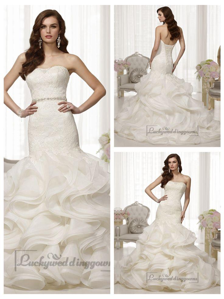 Fabulous Lace Bodice Organza Layeres Skirt Trumpet Wedding Dresses http://www.ckdress.com/fabulous-lace-bodice-organza-layeres-skirt-  trumpet-wedding-dresses-p-1990.html  #wedding #dresses #dress #Luckyweddinggown #Luckywedding #wed #clothing   #gown #weddingdresses #dressesonline #dressonline #bridaldresses