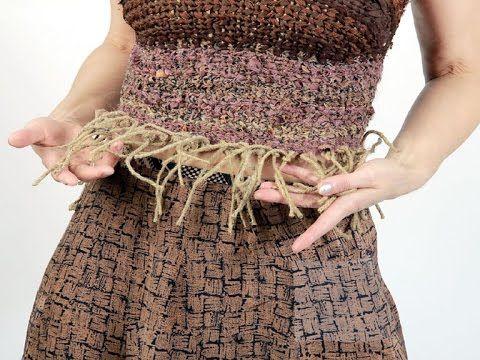 Создаём корсет из лент, шнуров и остатков текстиля. Мастер класс. Татьян...
