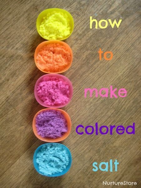 How to make colored salt - so easy! Great for sensory play and learning.