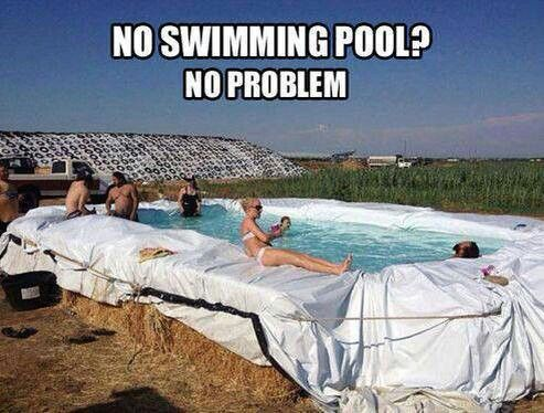 Redneck pool tim 39 s board pinterest - Redneck swimming pool with hay bales ...