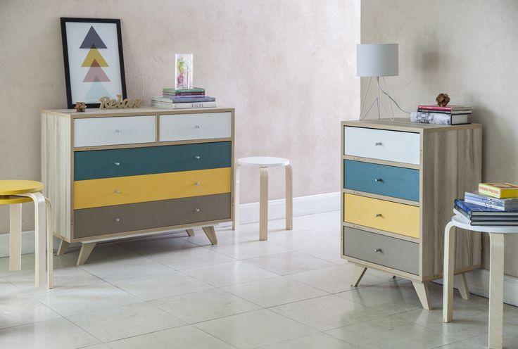 Línea escandinava a color. Combinaciones que dan una nueva vida a cualquier habitación. #Muebles #Easy #DecoracionInterior #Interiorismo #Colores #Ideas