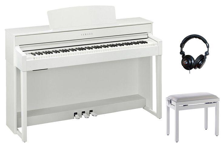 YAMAHA Pack promo avec le piano numérique Clavinova 88 touches finition blanc mat + casque + banquette ! Entrez dans un nouveau monde musical avec le Clavinova : simplement exceptionnel. Toucher, sonorités, pédales, résonances : rien ne manque pour vous faire vivre une expérience inoubliable.