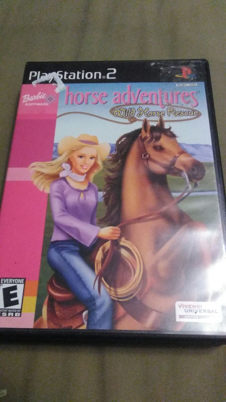 Playstation 2 Game Barbie Horse Adventure S Game In Case Good