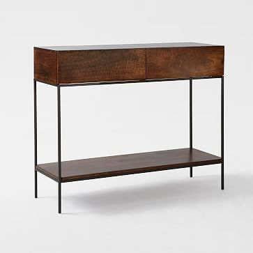 Industrial Storage Console Westelm Entryway Pinterest