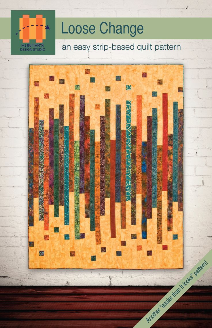 Loose Change strip quilt