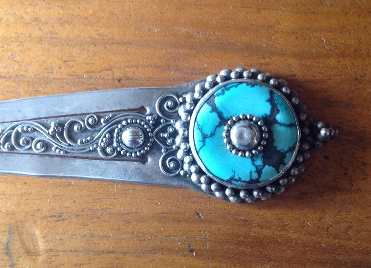 SILVER and bluestone handmade  BOOKMARK by Glorypast on Etsy