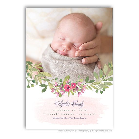 The  Best Birth Announcement Template Ideas On