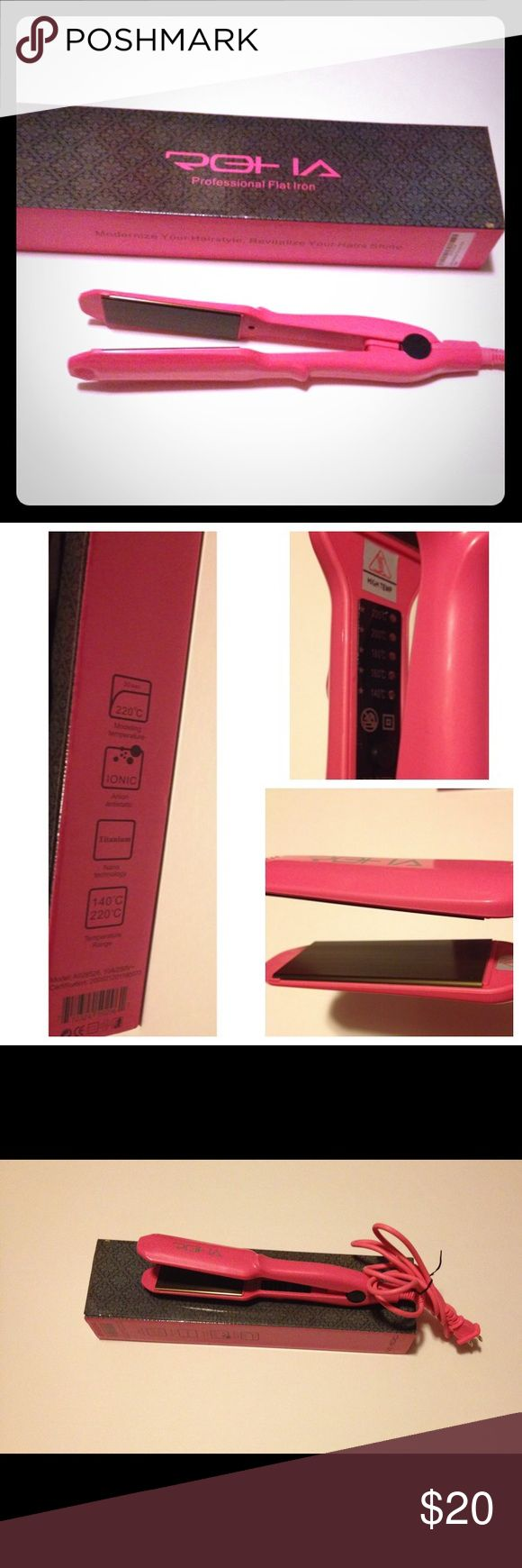 "Roha Professional Flat Irons ""PLEASE MAKE SURE ITEM IS STILL AVAILABLE BEFORE PURCHASING"" Roha flat irons, 1 1/2"" titanium nano technology,220 C temp,heats in 30 sec,used once,gets hot and has a push button to turn on.FAST SHIPPING SAME OR NEXT DAY MON-SAT. Roha Accessories Hair Accessories"