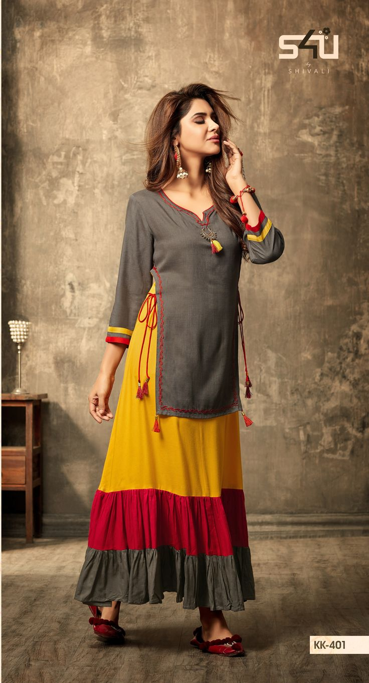 """Sunset's are best for your evening soirees! So here we bring something more amazing & creative for your evening stories. Get your hands on the latest S4U by Shivali's kurti Collection """"Kalakriti Vol-4"""". #KalakritiVol4 #Newin"""