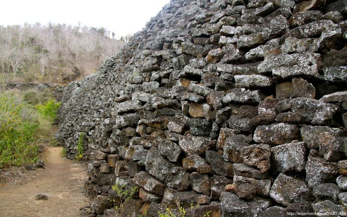 The Wall of Tears in the Galapagos