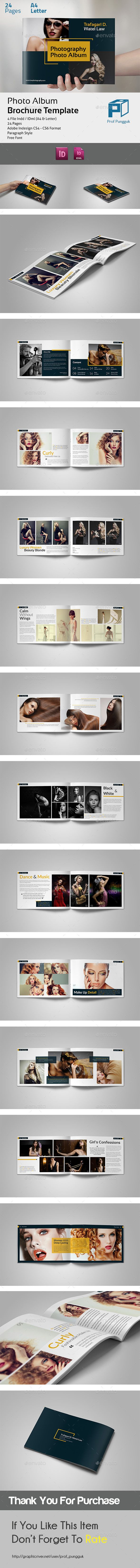 Modern Photo Album vol.2 - Portfolio Brochure Template InDesign INDD. Download here: http://graphicriver.net/item/modern-photo-album-vol2/11704591?s_rank=1790&ref=yinkira