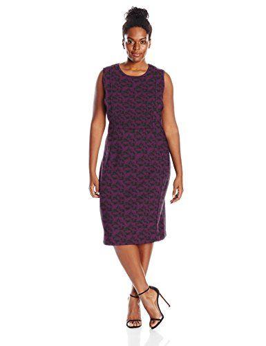 Nice Calvin Klein Women's Plus Size Textured Sheath Dress