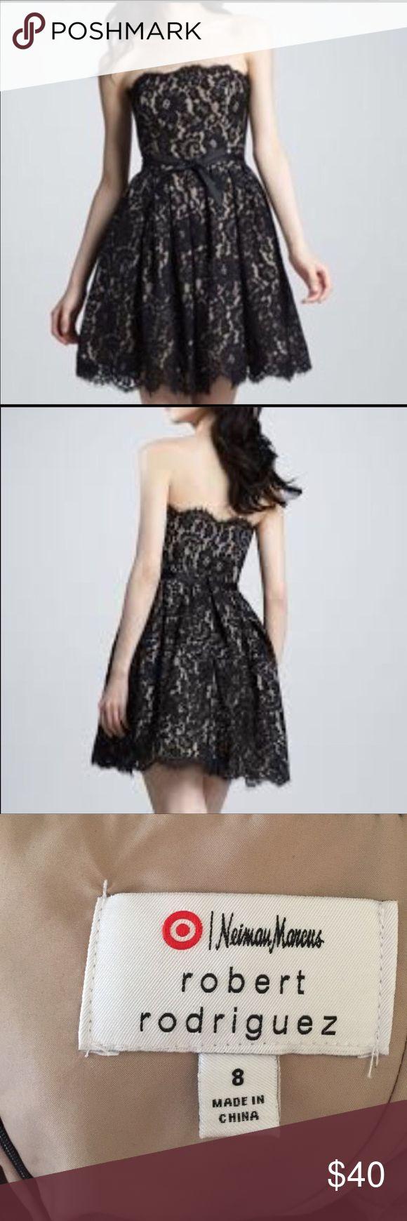 Neiman Marcus Black Chantilly lace dress Neiman Marcus Black Chantilly lace dress.  Worn one time. Neiman Marcus Dresses Mini