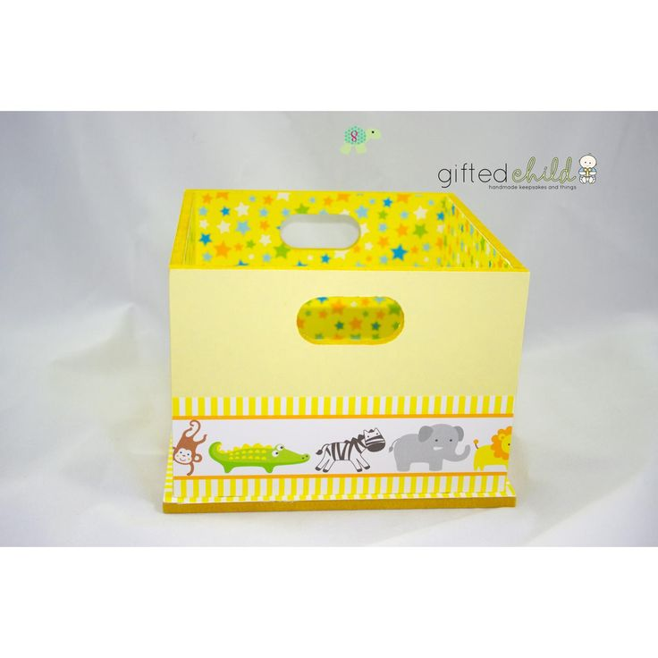 Baby nappy crate for the change table :)