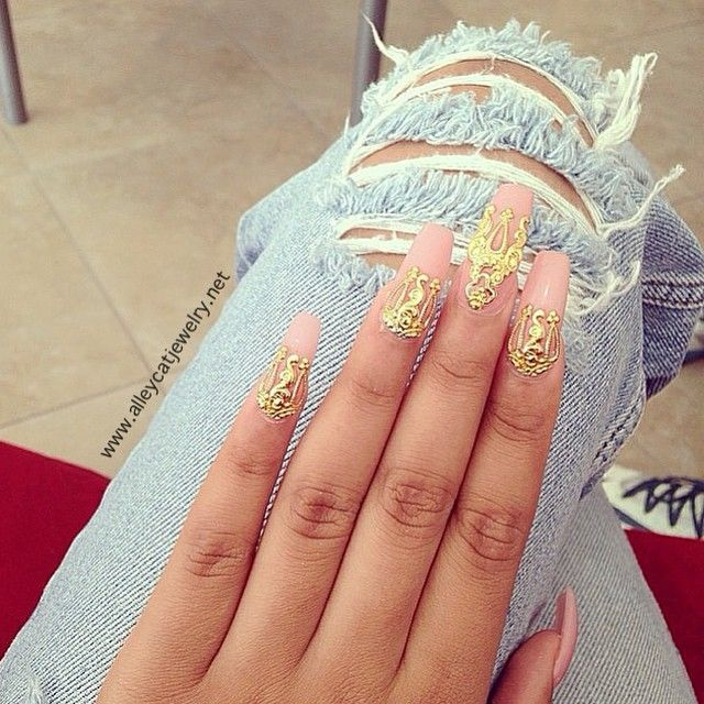 Nail Art Stiletto Yellow Funky Pink Nails Neon Crystal Tips Ombre Flowers Gold Black White