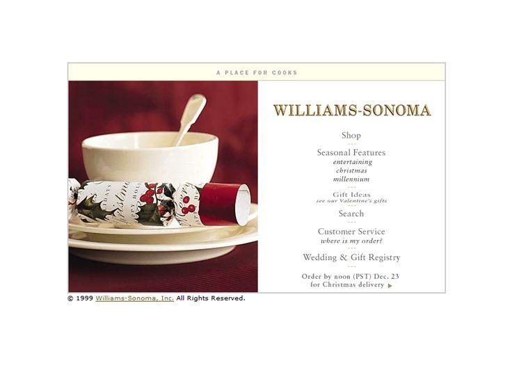 Williams-Sonoma website in 1999
