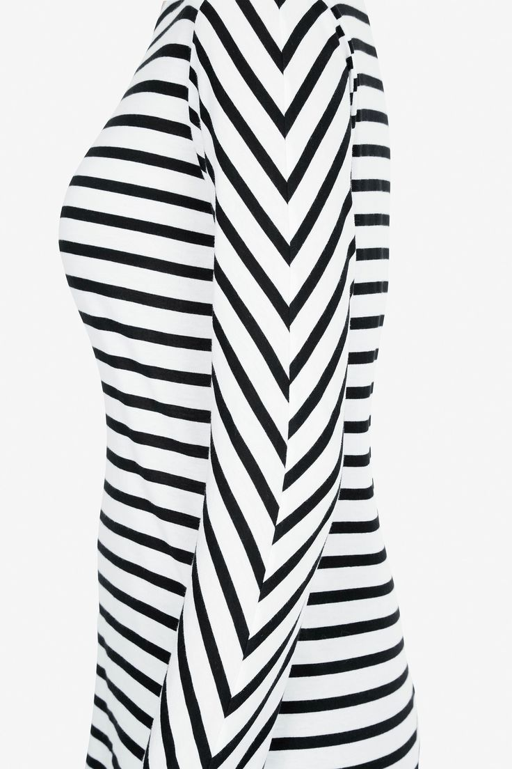 Chevron Boater | black + white stripe | organic | ethical fashion | bon label AW16