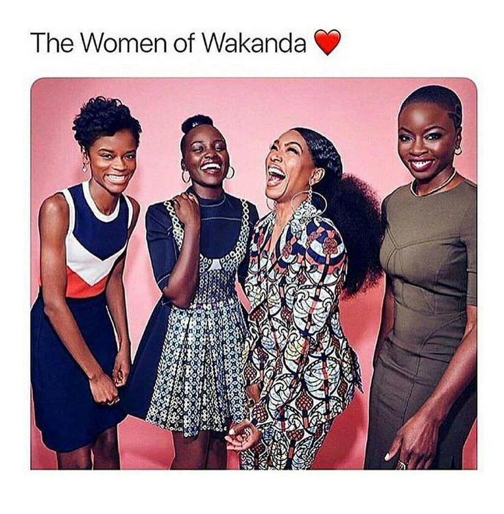 Letitia Wright, Lupita Nyong'o, Angela Bassett, Danai Gurira #BlackPanther #StrongWomen