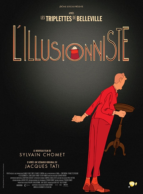 The Illusioniste animated film. I highly recommend it. My friend, Greg Manwaring, was one of the main illustrators. He is a pretty good magician, too.