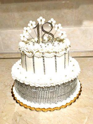 Szülinapi strassz tortadísz - Birthday monogram cake topper with Swarovski