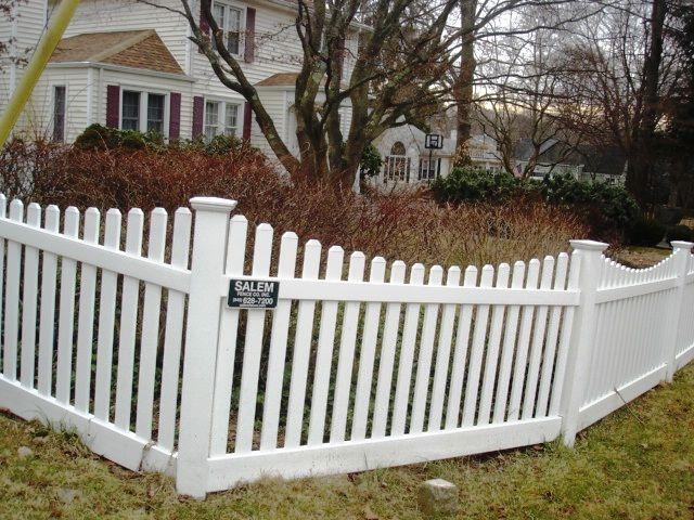 Scalloped vinyl picket fence pinterest