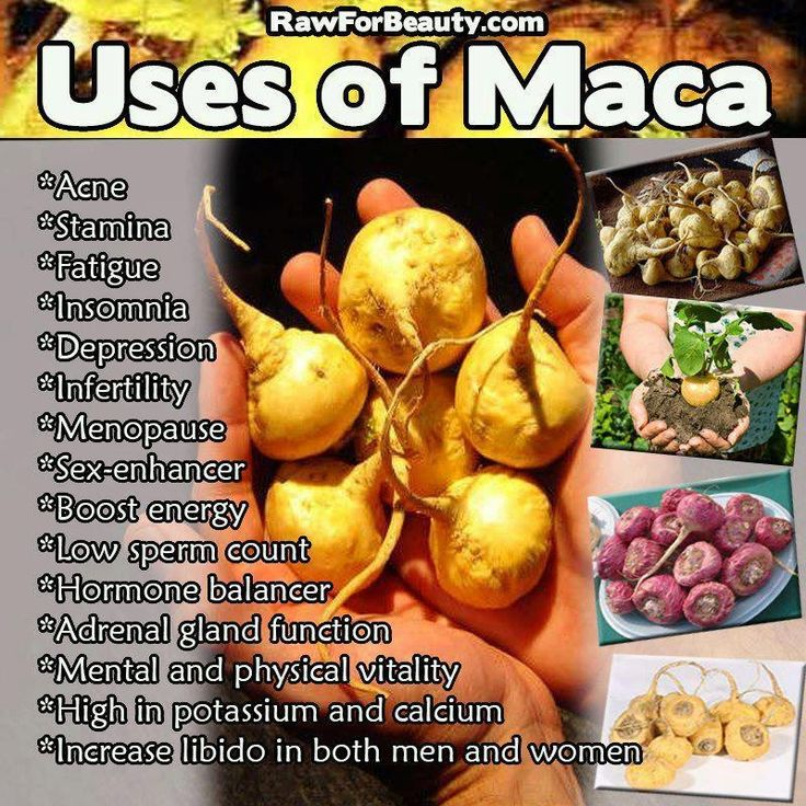Uses for maca powder.