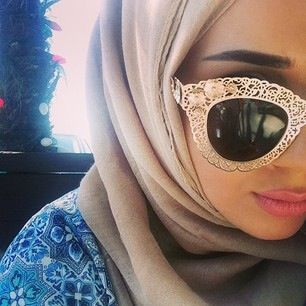 Who says funky glasses can't be worn with Hijab?....WithloveAsmaa....mash'a-allah....what an absolute Beauty...