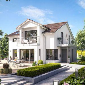 Hier finden Sie ihr Einfamilienhaus Fantastic 165 V4 Fertighaus mit Satteldach, das Ihnen 165,36 m² Wohnfläche bietet.