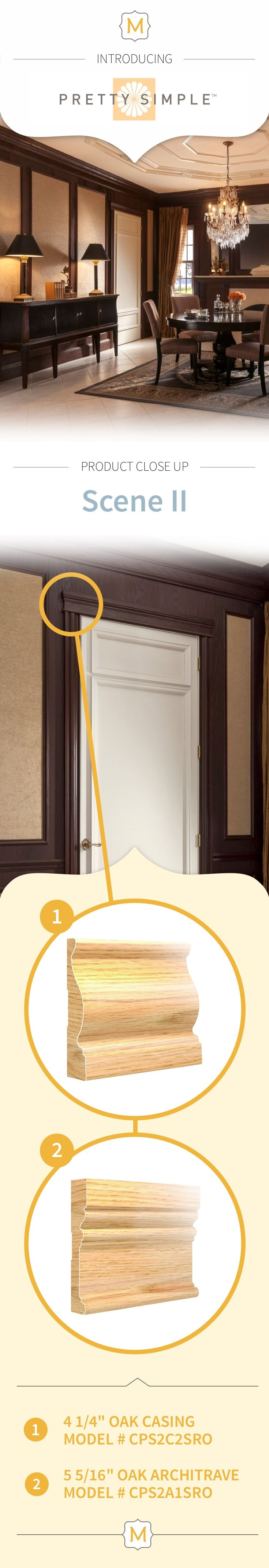 Even standard door frames get an upgrade with Metrie's Pretty Simple Collection trim elements.