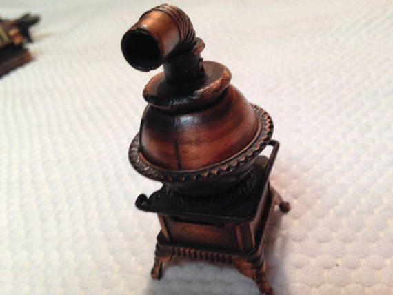 Vintage Die Cast Miniature Copper Colored Wood by VintageofTN