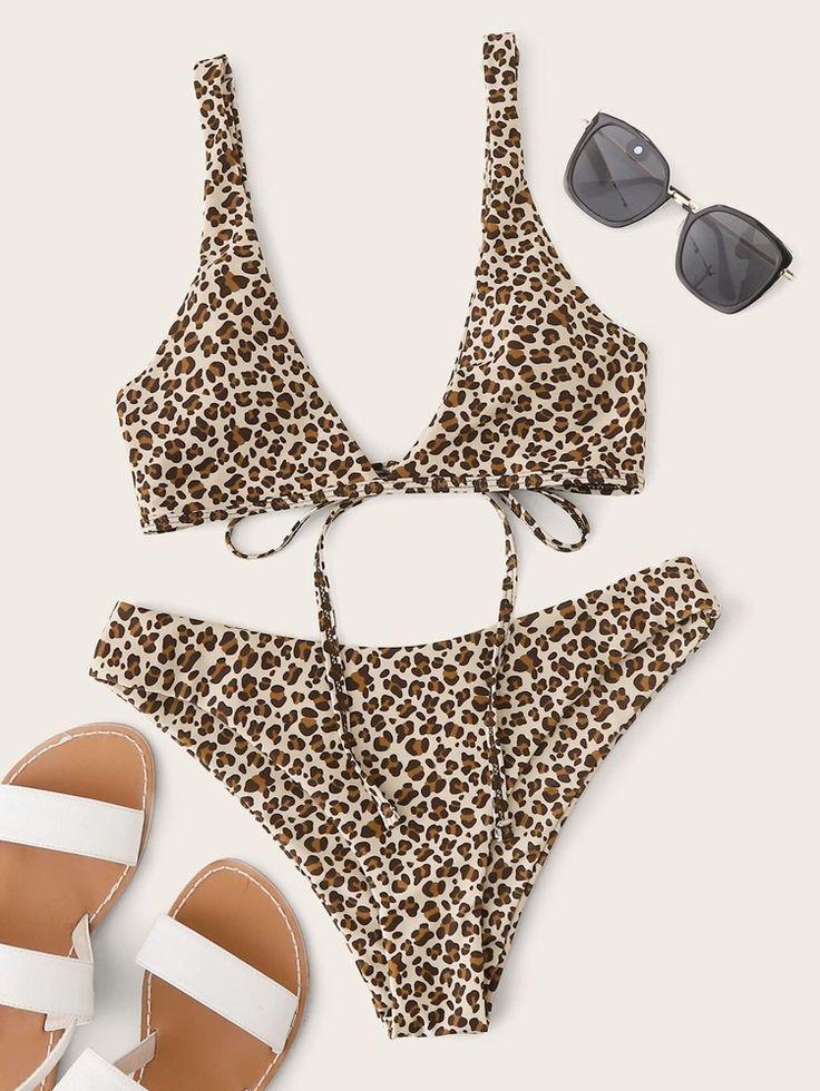Leopard Cheeky Bikini Swimsuit SHEIN USA in 2020